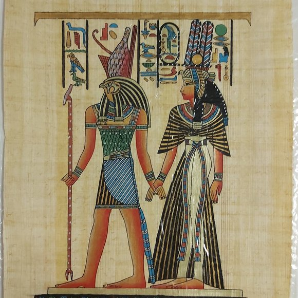 3/$55 Egyptian handmade papyrus paper hand painted